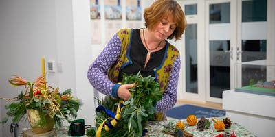 Luxury Christmas Wreath Making at Barley Wood