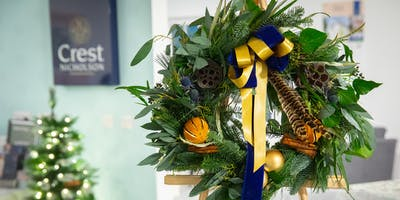 Luxury Christmas Wreath Making - Nailsea Tithe Barn