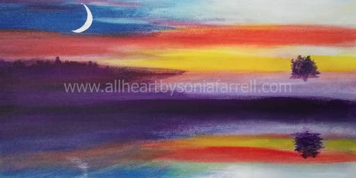 'Sunset Hues' Art Experience with  Sonia Farrell: Creative Hearts Art