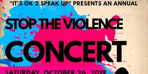 FREE STOP THE VIOLENCE CONCERT