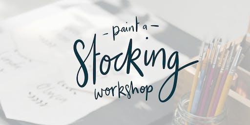 Stocking Painting Workshop