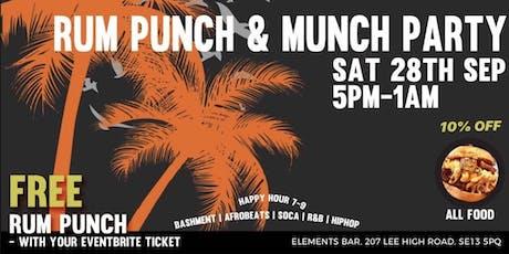 Rum Punch & Munch tickets