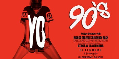 90'S Salsa Bachata Retro Party With ATACA & LA ALEMANA - EVENT TICKET ONLY tickets