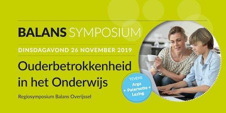 Ouderbetrokkenheid in het Onderwijs - Regiosymposium Balans Overijssel tickets