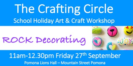 School Holiday Workshop - Rock Decorating tickets