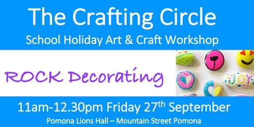 School Holiday Workshop - Rock Decorating