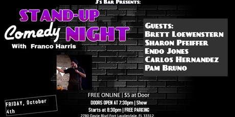 Comedy Night with Franco Harris at J's Bar tickets