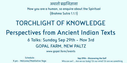 Torchlight of Knowledge - Perspectives from Ancient Indian Texts  6 TALK SERIES