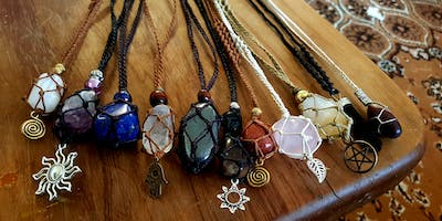 Crystal Macrame Necklace Workshop Beginners