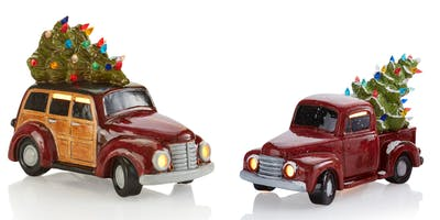 vintage truck with tree event