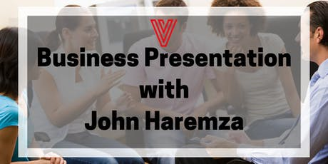 Business presentation with John Haremza tickets