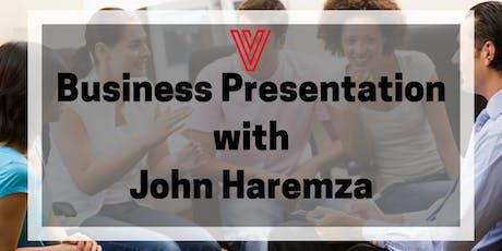 Business presentation with John Haremza biljetter