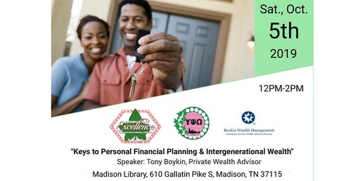 Keys to Personal Financial Planning & Intergenerational Wealth