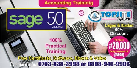Sage50 Accounting Package Training tickets