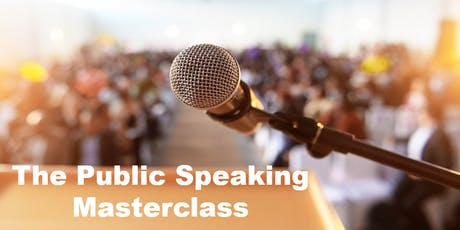 The Public Speaking Masterclass | Edinburgh tickets