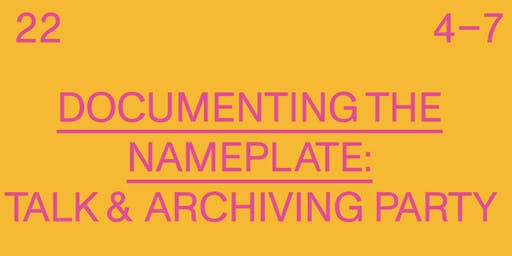 Documenting the Nameplate: Las Fotos Project