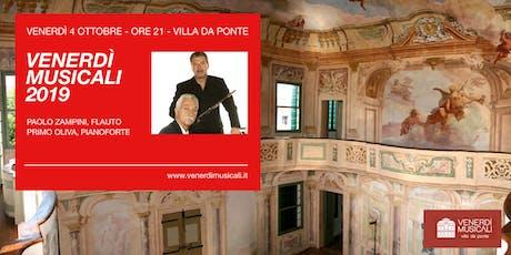 I Venerdì Musicali in Villa Da Ponte - 4 Ottobre: Duo Flauto e Pianoforte biglietti