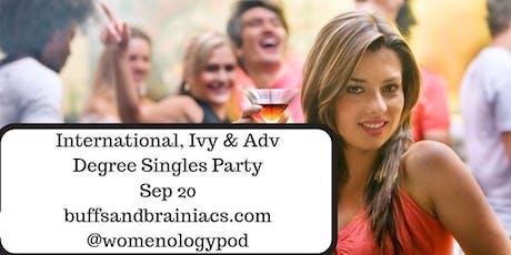 International, Ivy & Adv Degree  Singles Mixer tickets