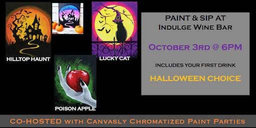Halloween Sip & Paint @ Indulge