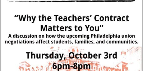 Why the Teachers' Contract Matters to You tickets