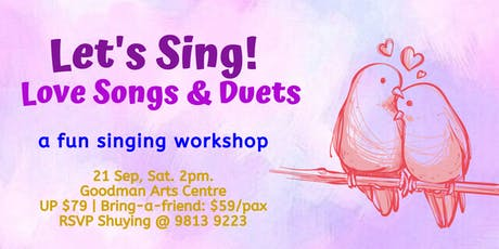 Let's Sing! Love Songs & Duets tickets