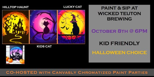 Family Halloween Paint & Sip @ Wicked Teuton