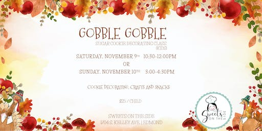 Gobble Gobble Kid's Cookie Decorating Class
