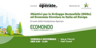 Obiettivi per lo Sviluppo Sostenibile  ed Economia Circolare in Italia e Eu
