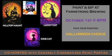 Halloween Paint & Sip @ Farmstrong Brewing tickets