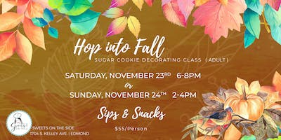 Hop into Fall ***** Cookie Decorating Class