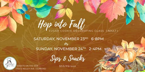 Hop into Fall Adult Cookie Decorating Class
