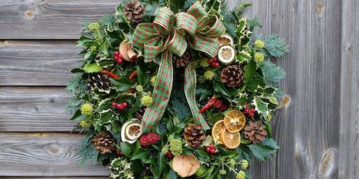 SOLD OUT. Christmas Wreath Workshop, Dobbies, Barlborough.