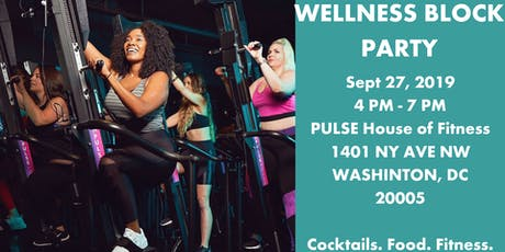 PULSE House + Happied Present:Wellness Block Party Drinks + Bites + Workout tickets