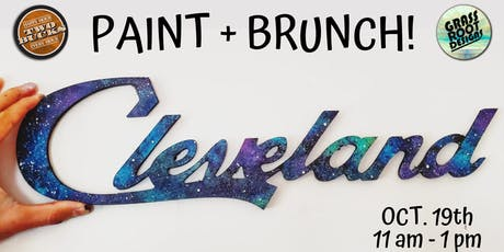Galaxy Cleveland Sign | Paint + Brunch! tickets