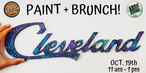 Galaxy Cleveland Sign | Paint + Brunch!