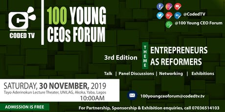 3rd Edition - 100 YOUNG CEOs Forum tickets