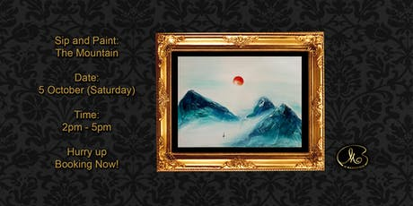 Sip and Paint (3D Artwork):  The Mountain tickets