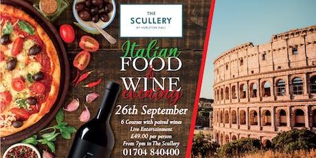 Italian Food & Wine Night tickets