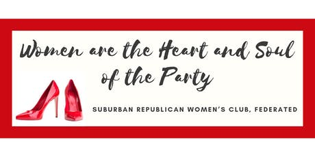 Suburban Republican Women's Club Federated - September 18, 2019 Luncheon tickets
