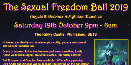 The Sexual Freedom Ball 2019 tickets
