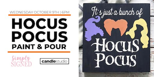 Hocus Pocus Paint & Pour with Simply Signed!