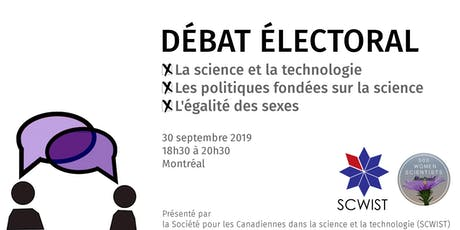 Débat électoral /  All-candidates debate tickets
