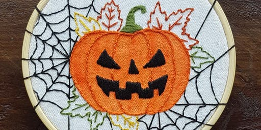 Halloween Beginner's Embroidery - 23 October 2019