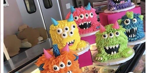 Monster cake decorating class