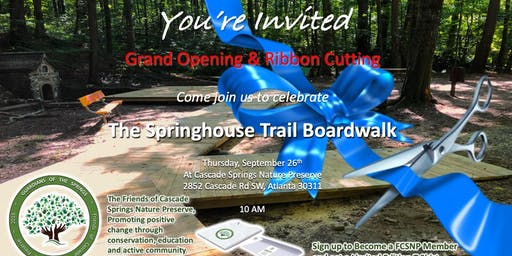 THE SPRINGHOUSE TRAIL GRAND OPENING AND RIBBON CUTTING