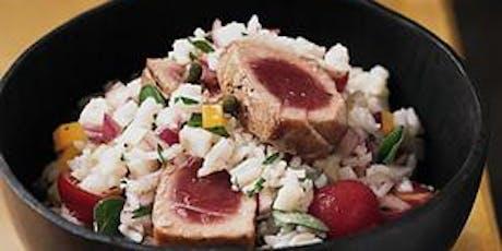 Wellness + TK: Seared Tuna with Tomato Chimichurri & Crispy Cauliflower Rice tickets