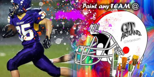 FOOTBALL FANS TEAM HELMET PAINT JAM SESSION ANY TEAM BYOB
