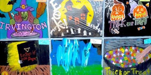 The Historic Irvington Halloween Festival Window Painting