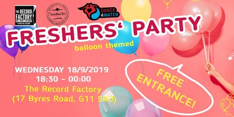 Dance4Water Freshers' Party tickets