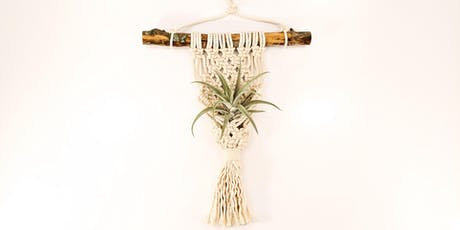 BYOB Make and Take Macrame Wall Hanging Class with Live Air Plants tickets